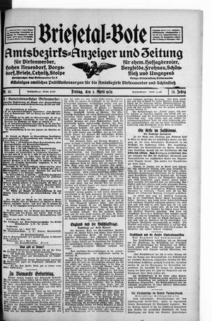 Briesetal-Bote on Apr 3, 1926