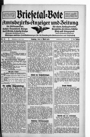 Briesetal-Bote vom 11.04.1926