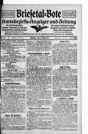 Briesetal-Bote vom 13.04.1926