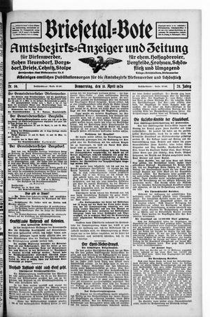 Briesetal-Bote vom 15.04.1926