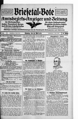 Briesetal-Bote vom 20.04.1926