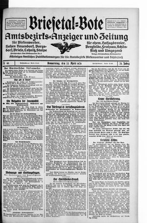 Briesetal-Bote vom 22.04.1926