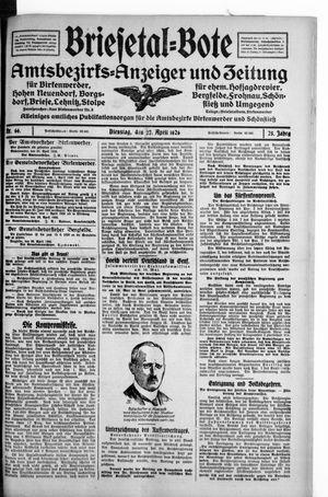 Briesetal-Bote vom 27.04.1926