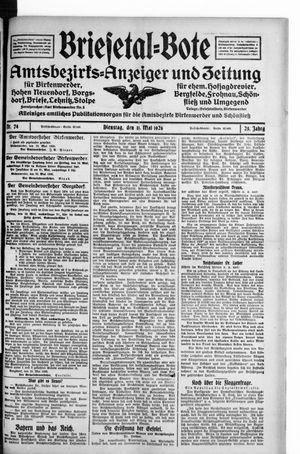Briesetal-Bote vom 11.05.1926
