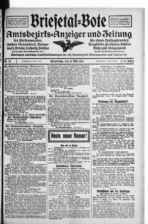 Briesetal-Bote on May 13, 1926