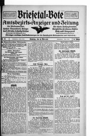 Briesetal-Bote vom 18.05.1926