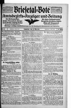 Briesetal-Bote vom 22.05.1926