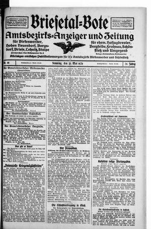 Briesetal-Bote vom 23.05.1926