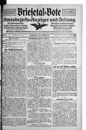 Briesetal-Bote vom 27.05.1926