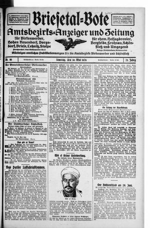 Briesetal-Bote vom 30.05.1926