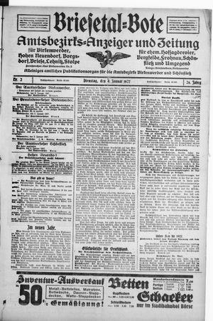 Briesetal-Bote vom 04.01.1927