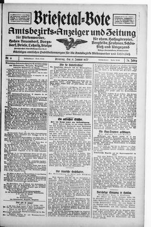 Briesetal-Bote vom 11.01.1927