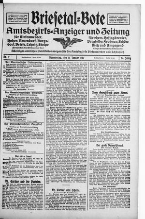 Briesetal-Bote vom 13.01.1927