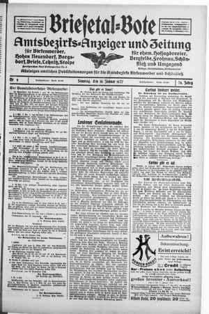 Briesetal-Bote vom 16.01.1927