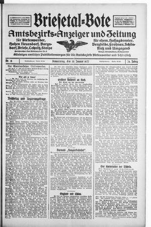 Briesetal-Bote vom 20.01.1927