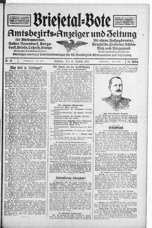 Briesetal-Bote on Jan 30, 1927