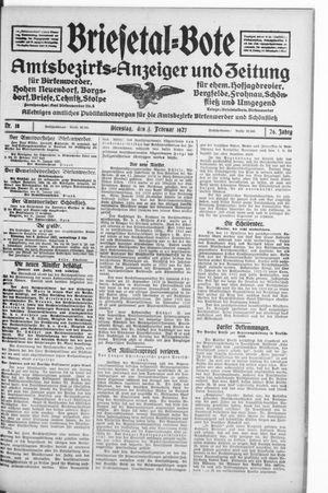 Briesetal-Bote vom 01.02.1927