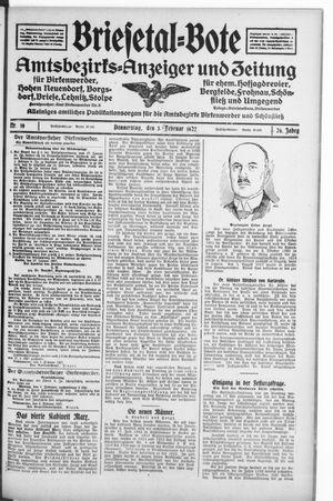 Briesetal-Bote vom 03.02.1927