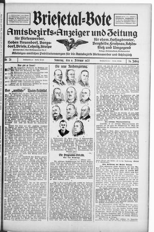 Briesetal-Bote vom 06.02.1927