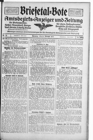 Briesetal-Bote vom 08.02.1927