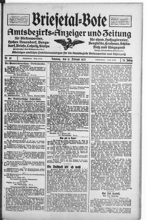 Briesetal-Bote vom 13.02.1927