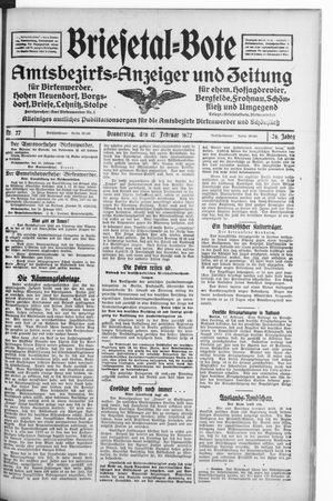 Briesetal-Bote vom 17.02.1927