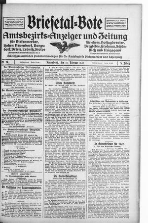 Briesetal-Bote vom 19.02.1927