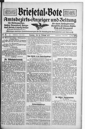 Briesetal-Bote vom 20.02.1927