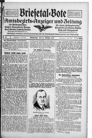 Briesetal-Bote vom 24.02.1927