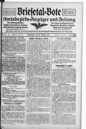 Briesetal-Bote vom 26.02.1927