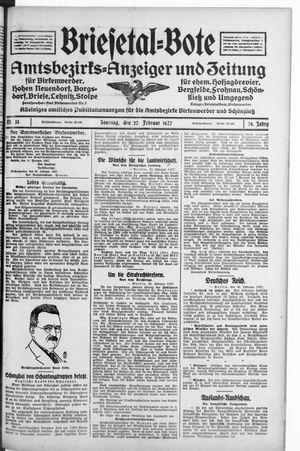 Briesetal-Bote vom 27.02.1927