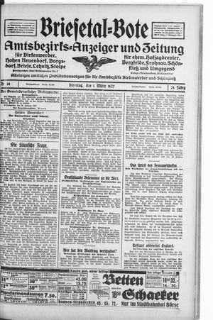 Briesetal-Bote vom 01.03.1927