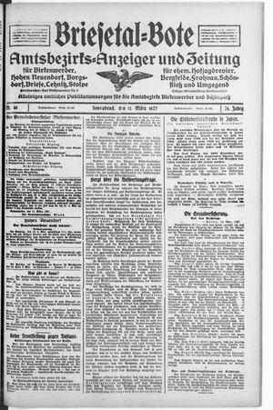 Briesetal-Bote vom 12.03.1927