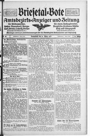 Briesetal-Bote vom 19.03.1927