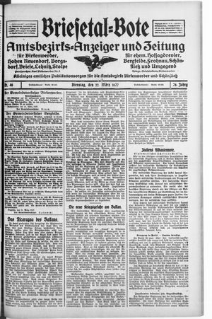 Briesetal-Bote vom 22.03.1927