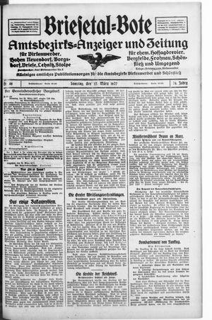 Briesetal-Bote vom 27.03.1927