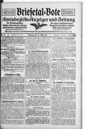 Briesetal-Bote vom 29.03.1927