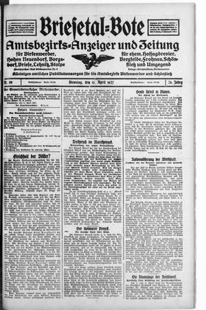 Briesetal-Bote vom 12.04.1927