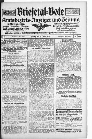 Briesetal-Bote on Apr 15, 1927