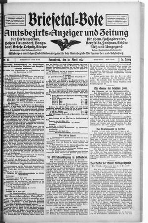 Briesetal-Bote vom 23.04.1927
