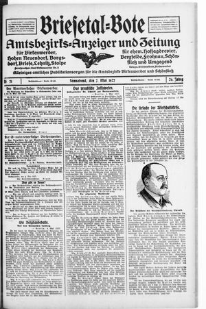 Briesetal-Bote vom 07.05.1927