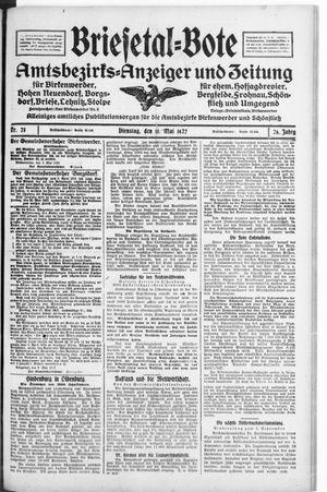 Briesetal-Bote vom 10.05.1927