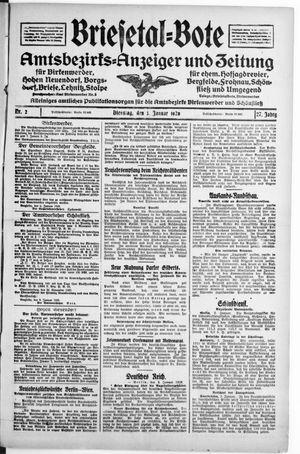 Briesetal-Bote vom 03.01.1928