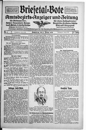 Briesetal-Bote vom 05.01.1928