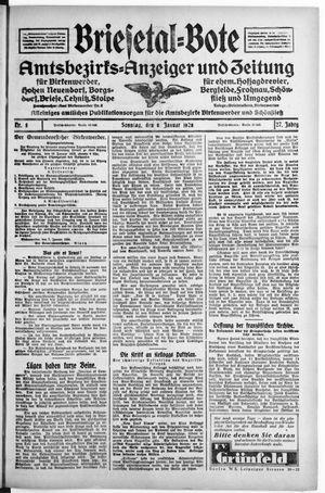 Briesetal-Bote vom 08.01.1928