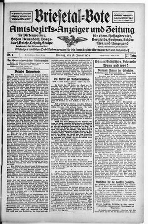 Briesetal-Bote vom 10.01.1928