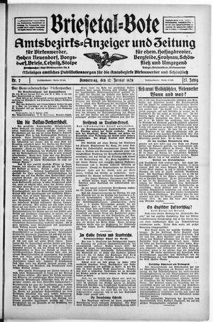 Briesetal-Bote on Jan 12, 1928
