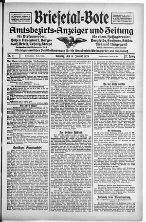 Briesetal-Bote on Jan 15, 1928