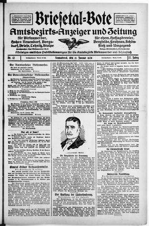 Briesetal-Bote vom 21.01.1928