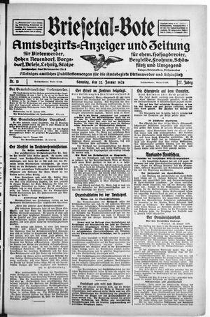 Briesetal-Bote vom 22.01.1928